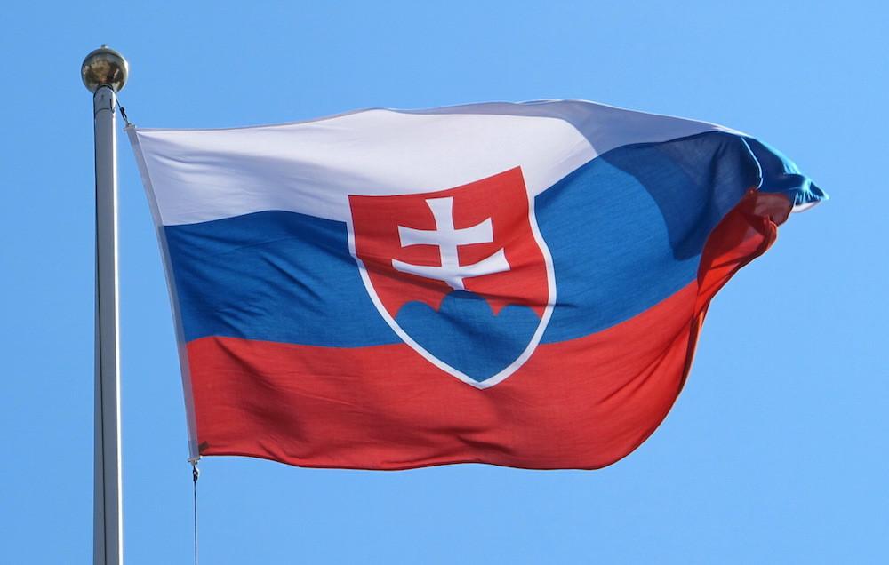 Slovakien Flagga Tryckt